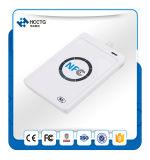 Lettore senza contatto tenuto in mano dello Smart Card di NFC per il sistema di controllo di accesso ACR122u