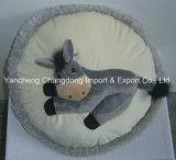 ブラウンカラーの円形の馬のソファーのクッション