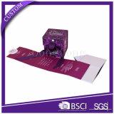 Boîte-cadeau de papier se pliante de logo fait sur commande de luxe empaquetant pour le parfum