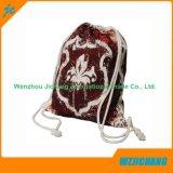 Promo cordón de algodón bolsa con cierre de lengüeta