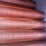 Медный провод красного цвета сетки и сетки из латунной проволоки