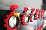 Нержавеющей стали стержня ISO CE клапан-бабочка поддержки волочения чуть-чуть концентрическая