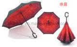 Зонтик новой конструкции портативный Handsfree прямой обратный перевернутый