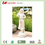 Grande estátua de escultura de jardim de anjo tranquilo e resina para decoração de gramado e jardim