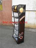 Металл Paiting высокого качества черный Shelves стеллаж для выставки товаров еды