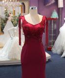 Nixe befestigte und erweitert sich rotes Abend-Partei-Kleid mit Raupe-Hülse