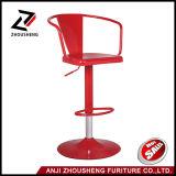 Tabouret de bar réglable en métal avec l'arrière et de la pleine barre noire chaise pivotante