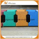 esteiras de borracha aprovadas do revestimento do Ce de 200X160mm para o campo de jogos das crianças