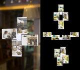 Leggyhorse5 x 7 pouces Cadre Photo en acrylique transparent souple, trames détachable de changer facilement la forme, couleur blanc/noir, un jeu de 4frame