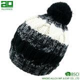 クリスマスのPomのシリーズによって編まれるカスタム冬の帽子