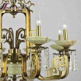 Retro Lamp van de Tegenhanger van het Kristal Decoratieve met Antiek Messing met Hotel