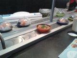 Cadeia de mesa Cadeia de sushi Corrente transportadora de plástico ou aço inoxidável com costelas