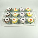 12 белого пластичного чашки подноса индикации для несущей торта