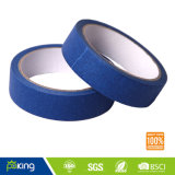 Blaues Krepp-Papier-selbsthaftendes Kreppband mit großer Qualität