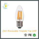 LED 초 전구 C35 6W 에너지 절약 어뢰 끝 LED 전구