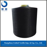 Lycra Behandelde Polyester DTY 300d/96f Black+40d