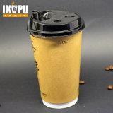 Устранимый горячий бумажный стаканчик кофеего с крышками