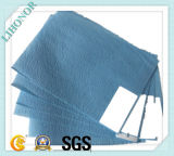 61GSM Bleu Spunlaced Nonwoven Fabric Combinez PE Film (drapé)