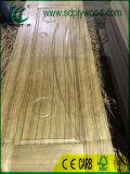Peau en bois de porte de placage/peau porte de mélamine pour l'usine de porte