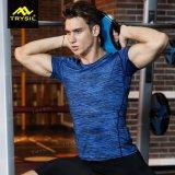 Camice di forma fisica degli uomini della maglietta di sport degli uomini