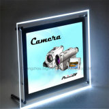 高品質LEDの水晶ライトボックスの細いライトボックス