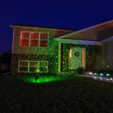 Luces, rojo y verde decorativos al aire libre de la Navidad del laser de la Navidad de la ducha accionada por control remoto del laser