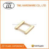 High Gloss Surfaces Light Gold Metal Buckle