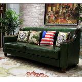 現代余暇の居間の家具As848のための部門別の本革のソファー
