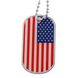 Pendente militare della modifica di cane della bandierina degli S.U.A. di stampa del metallo di prezzi di fabbrica (xd-08256)