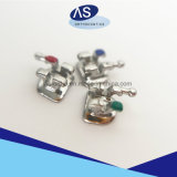 Como soportes de metal de ortodoncia dental