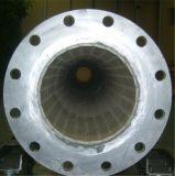 Tubo de acero alineado de cerámica del alúmina de la resistencia de desgaste