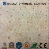 Couro sintético de avestruz PU para vestuário e sacos com resistência ao fogo