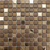 Acero inoxidable de la mezcla del modelo del suelo de mosaico del chocolate