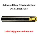 ÖL-Schlauch-hydraulischer Schlauch-Hochdruckschlauch SAE-R1 En853 1sn Gummi/eine Schicht Stahldraht-geflochten