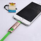 iPhone 7을%s 다채로운 점화 2 In1 철회 가능한 USB 케이블