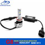 Auto jogo H8 H9 H11 H16jp do farol do carro do diodo emissor de luz do CREE Xhp-50 G8 da luz 72W 6000lm