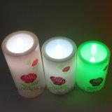 Sin Flama eléctrica Navidad LED decorativas velas de plástico con función de temporizador