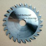 120X3.8X20X24t Tct hojas de sierra circular de carburo para corte de madera