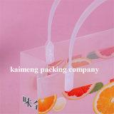 China Suministro de jugo de naranja Paquete de plástico PVC bolsa promocional con mango