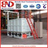 focolare del carrello ferroviario 125kw che estigue fornace per il trattamento termico