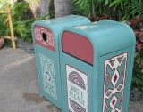 頑丈な遊園地およびテーマパークのゴミ箱(HW-64)