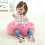 Het ronde Hoofdkussen van de Baby van de Stof van de Pluche Roze met het Katoen van pp