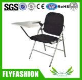 メモ帳が付いている安い革学校ノードトレーニングの穏かなFoldable椅子