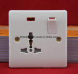 13A British Wall Switch Socket + Neon / Eurpean Wall Switch Socket