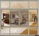 Vetratura doppia Windows di alluminio della stoffa per tendine di disegno verticale di alluminio della finestra