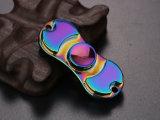 2017 Nuevo color del arco iris de la aleación del metal de la persona agitada dedo de la mano Spinner