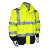 Revestimento reflexivo do Workwear elevado da segurança da visibilidade