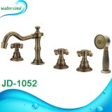 Badezimmer Tapware 3 Löcher Antique BronzeCupc Bad-Hahn