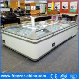 Plug-in Glass Top Commercial Display Island Freezer para venda