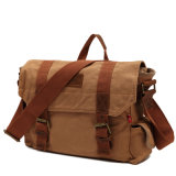 Fábrica profesional del bolso del mensajero de la lona del recorrido del cuero de la vendimia del OEM (RS-H7301)